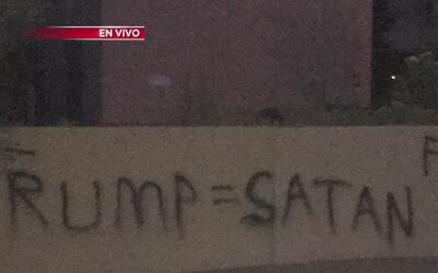 Mensajes vandálicos contra la visita de Trump al estado de Arizona