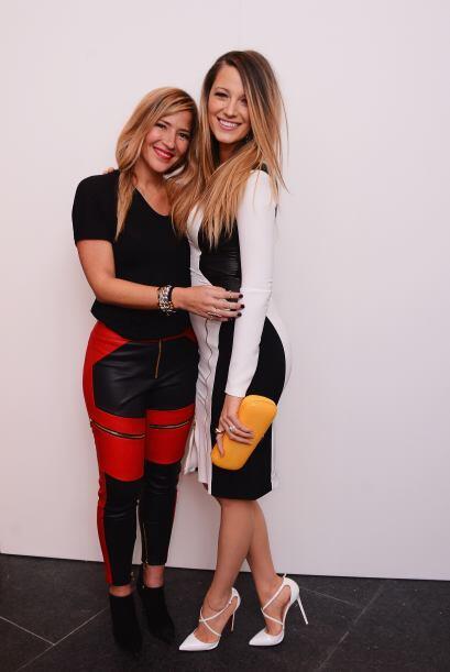 La diseñadora Gabriela Cadena no podía dejar de tocar su mini cintura.