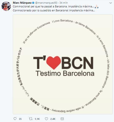 El mundo del deporte se solidariza con las víctimas de Barcelona BCN12.JPG