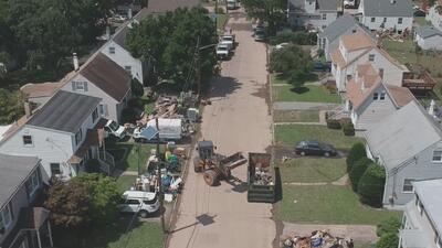 Autoridades adelantan trabajos de limpieza de escombros por tormentas e inundaciones en Little Falls