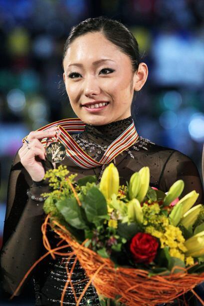 Tras completar un soberbio programa libre la japonesa Miki Ando dedicó l...