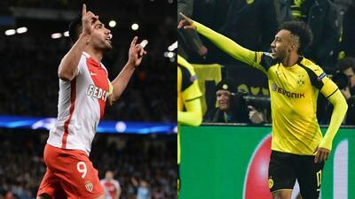 El duelo del gol entre Falcao y Aubameyang en los cuartos de final de Champions