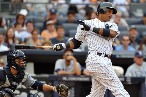 2B. Robinson Canó. Yankees de Nueva York.Canó bateó para .480 en 25 tur...
