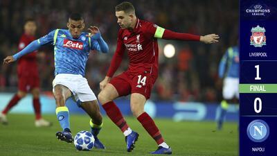 ¡Dramático! Liverpool se metió a Octavos y echó al Napoli