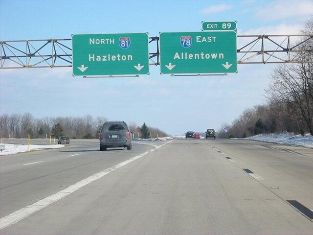 El noveno puesto lo ocupa la I-78, entre Union Township (Pensilvania) a...