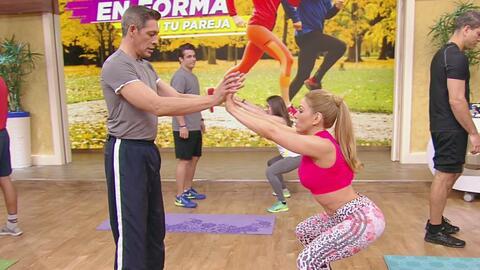 ¡Logren un cuerpazo haciendo ejercicio en pareja! Mira la rutina de Clau...