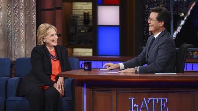 Clinton y Colbert