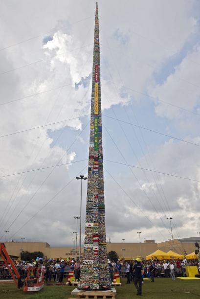 La empresa danesa realizó la primer torre Lego en Londres, en 1988. En e...