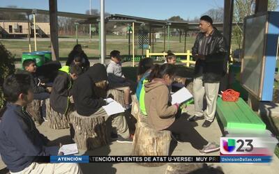 Clases al aire libre en primarias de Dallas