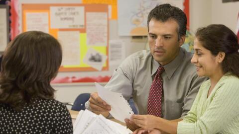 Conferencia de padres y maestros.
