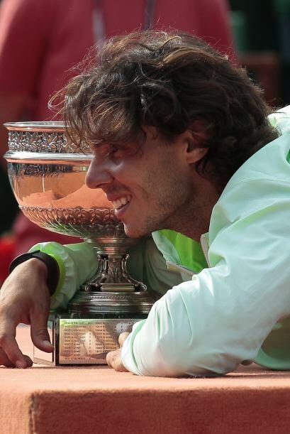 El actual número uno del tenis en la ATP, el español Rafael Nadal con ci...