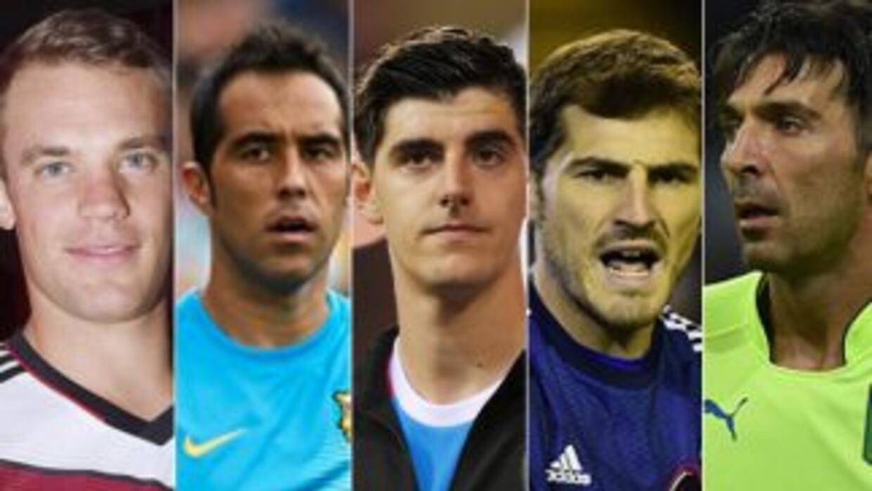 Neuer, Bravo, Courtois, Casillas y Buffon son los candidatos a Mejor por...