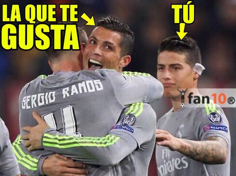 Los memes de la jornada se los llevaron Cristiano Ronaldo, quien anot&oa...