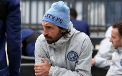 Andrea Pirlo en pretemporada con NYCFC