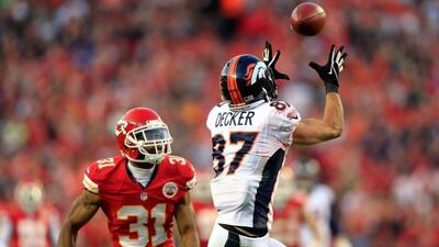 El receptor de Broncos se llevó las palmas con cuatro recepciones para T...