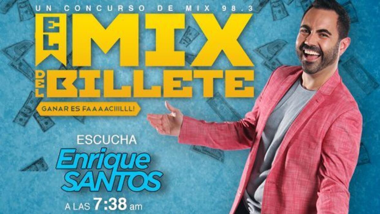 Escucha el show de Enrique Santos en Mix 98.3 a las 7:38 y 8:38 am para...