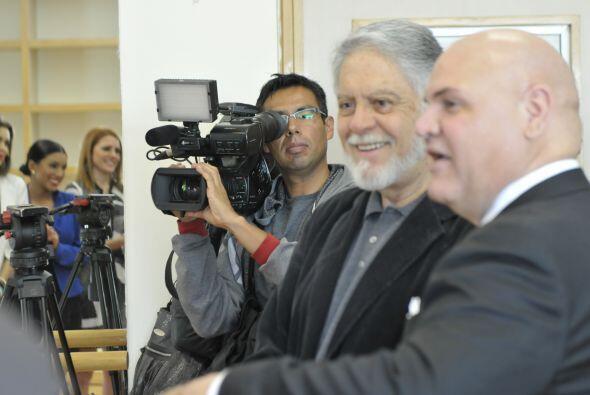 El señor Eugenio Cobo Peña, productor de telenovelas y pri...
