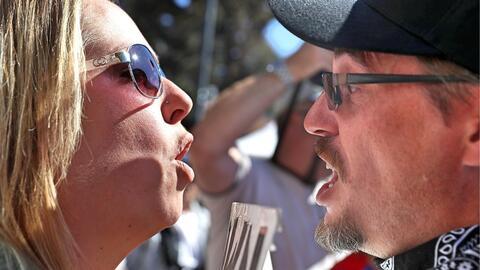 Confrontaciones verbales entre seguidores y opositores del activista de...