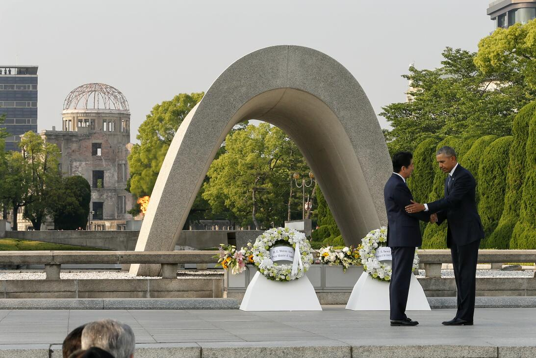 Una herida que se cierra: Un presidente en activo visita HiroshimaBarack...