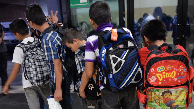 Menores centroamericanos camino a EEUU.
