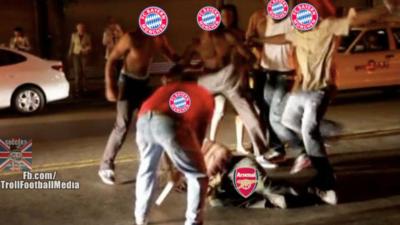 La dura goleada del Bayern sobre el Arsenal en los memes más divertidos
