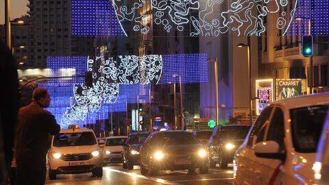La avenida Gran Vía, en Madrid, el año pasado. Este a&ntil...