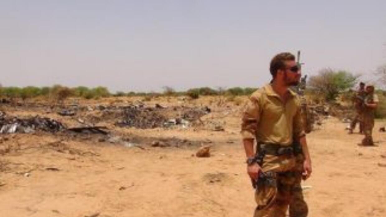 Los fragmentos de la aeronave que se encontraron en la sabana del este d...