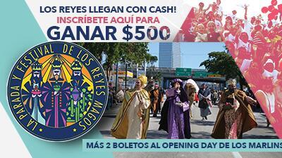 ¡Participa y gana 500 dólares más 2 boletos para el Opening Day de Los Marlins!
