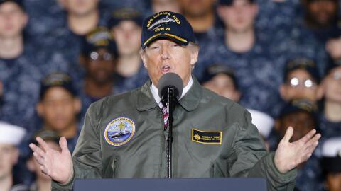 Trump declaró su confianza a Sessions al ser consultado por los medios d...