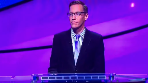 Jeopardy contestant Nick receives the news that he has just lost $3,200...