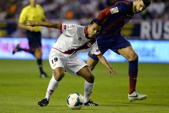El Rayo no se rindió y siguió metiéndole presión al Barcelona.