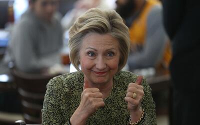 Clinton durante un evento de campaña.