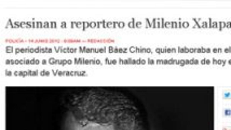 El periodista mexicano Víctor Baez, que estaba secuestrado desde el miér...