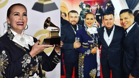 Aida Cuevas dedica premio GRAMMY  a sus amigos de Banda El Recodo