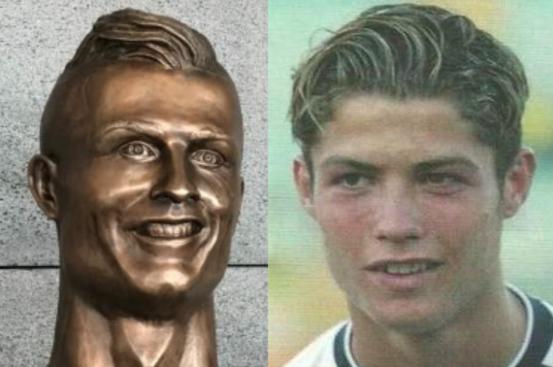 Los memes se burlan de Cristiano Ronaldo y su deforme escultura Captura...