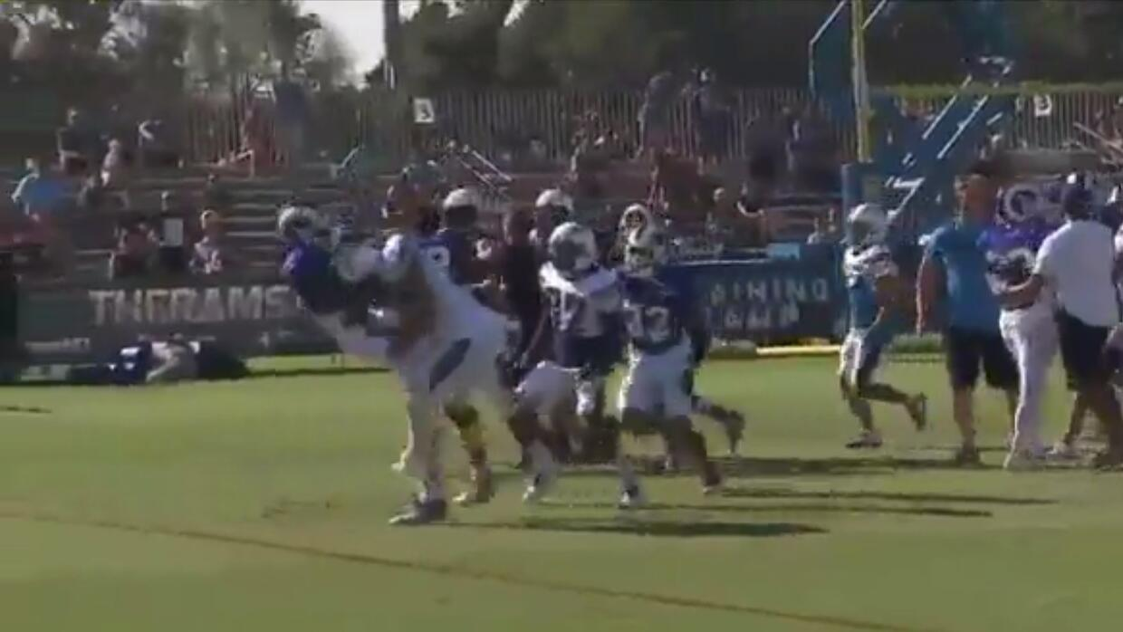 Chargers vs. Rams fight