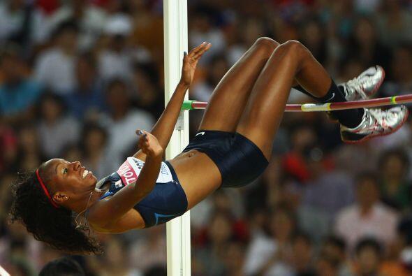 Impresionante imágen de una atleta de Estados Unidos.