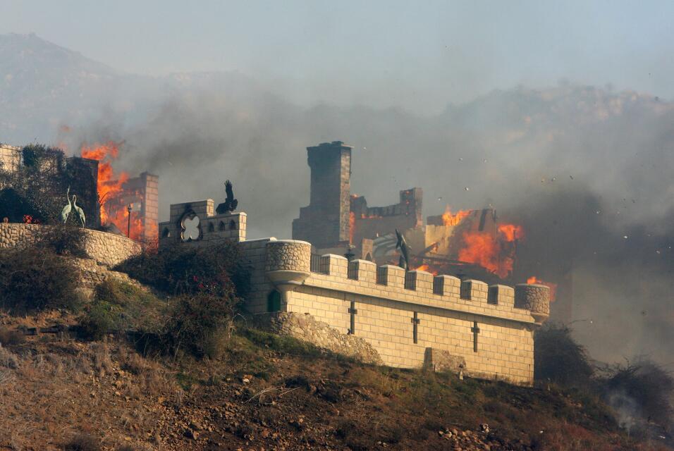Un incendio en octubre de 2007 arrasó con el 'Castillo Kashan'.