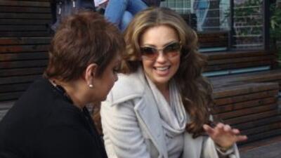 María Antonieta Collins habló con Thalia en Nueva York.