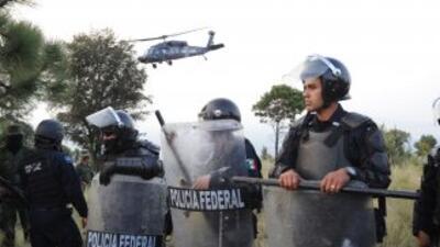 Elementos de la policia federal.
