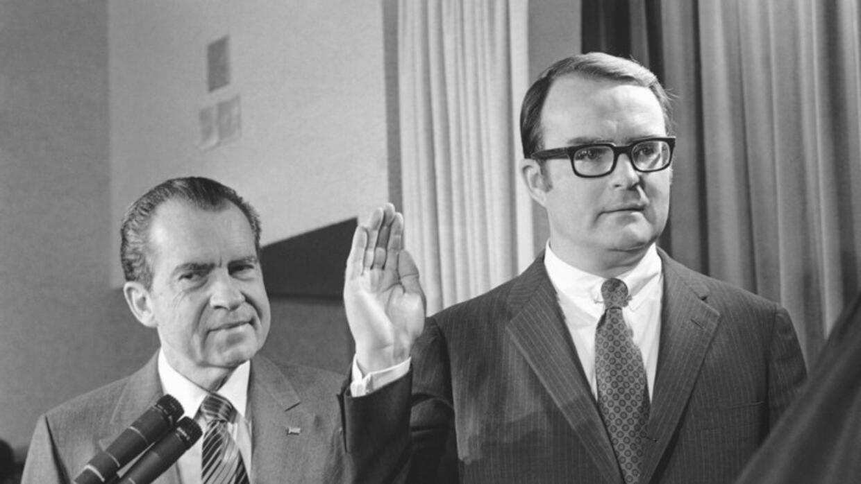 William Ruckelshaus is sworn in as administrator of the newly created En...