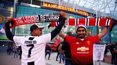 Cristiano Ronaldo, centro de atracción de los fanáticos del Manchester United vs. Juventus