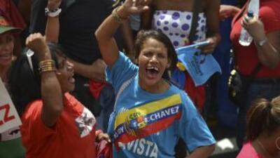 Seguidores del presidente de Venezuela, Hugo Chávez.