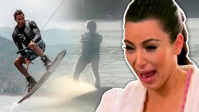 Aprende Kim: Sebastian Rulli y Angelique Boyer dan una lección de esquí acuático (no tragan agua a lo Kardashian)