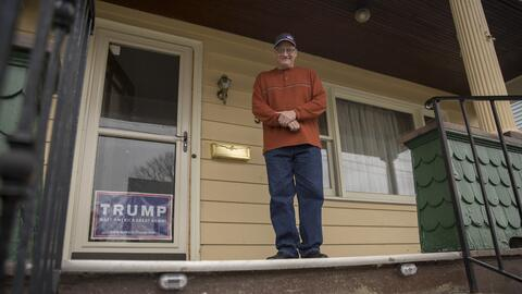 "Brian Reynolds, votante de Trump en Erie, Pennsylvania: ""Nos hemos..."