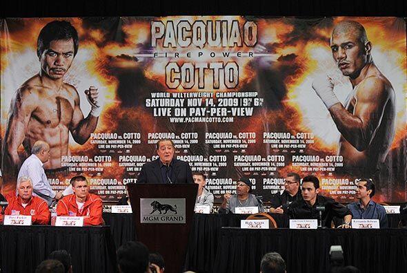 A un par de días de la megafunción Cotto-Pacquiao, Bob Arum presentó los...