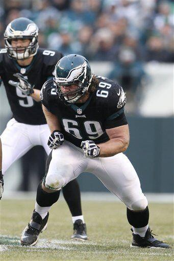 Evan Mathis, guardia ofensivo de los Philadelphia Eagles (AP-NFL).