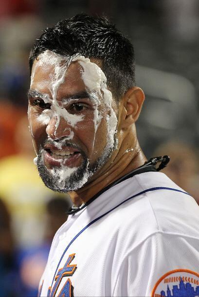 Así quedó Pagan tras llevar a los Mets a la victoria.
