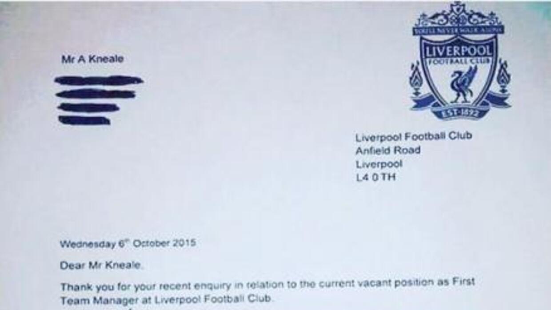Supuesta carta que le enviaron