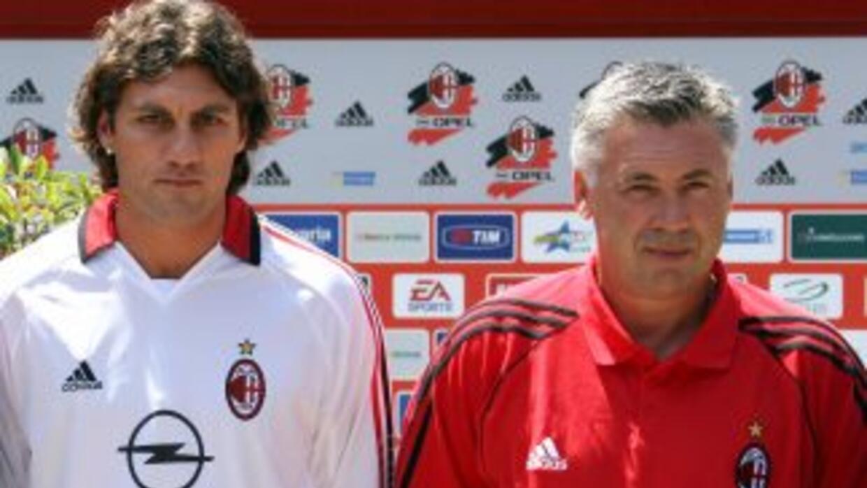 Vieri trabajó con Ancelotti durante su breve paso por el Milan.
